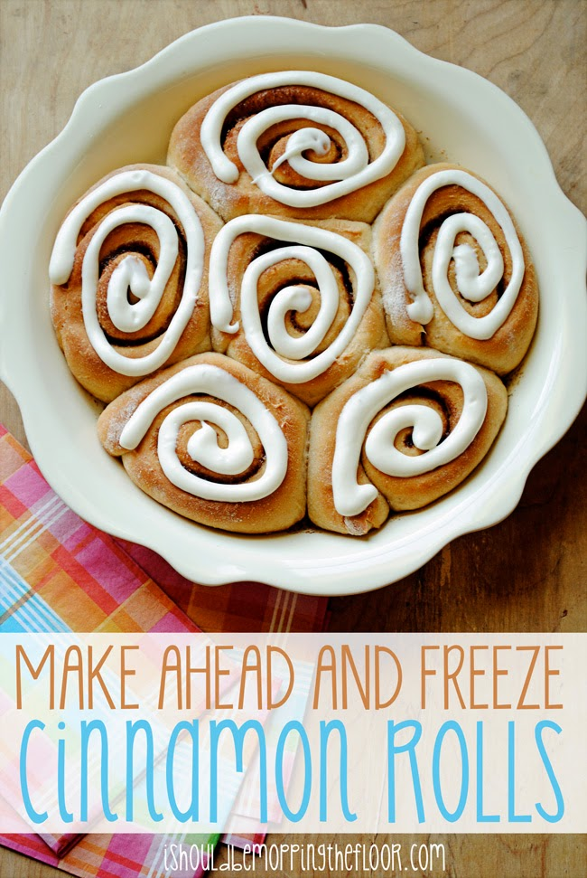 Freezer Friendly Cinnamon Rolls | Perfect for a crowd or to have on hand when company comes.
