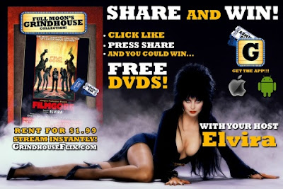 Win 5 DVDs from Full Moon's Grindhouse collection including Elvira's Filmgore