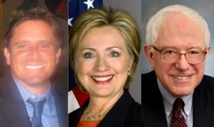 Jonathan Widran, Hillary Clinton, Bernie Sanders