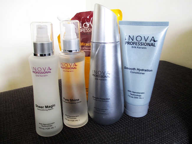 Beautiful shiny hair: Inova Professional Silk Keratin Introduction Kit Review and GIVEAWAY!