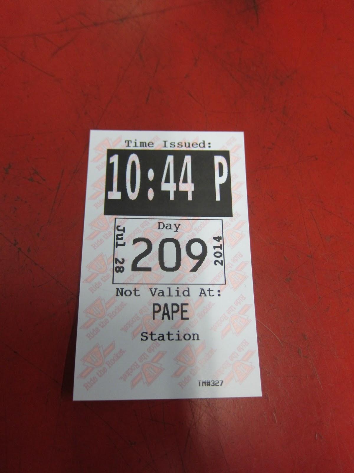 Pape station transfer