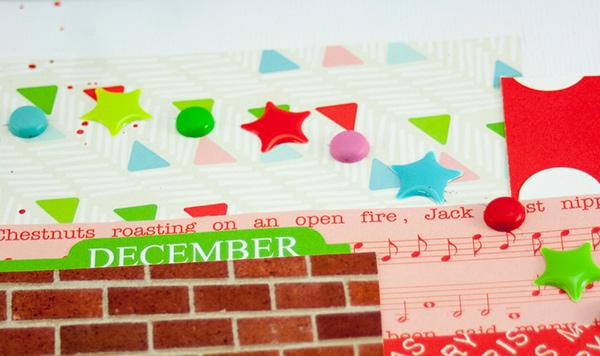Allie Stewart Chickaniddy Crafts December Layout Sketch close-up