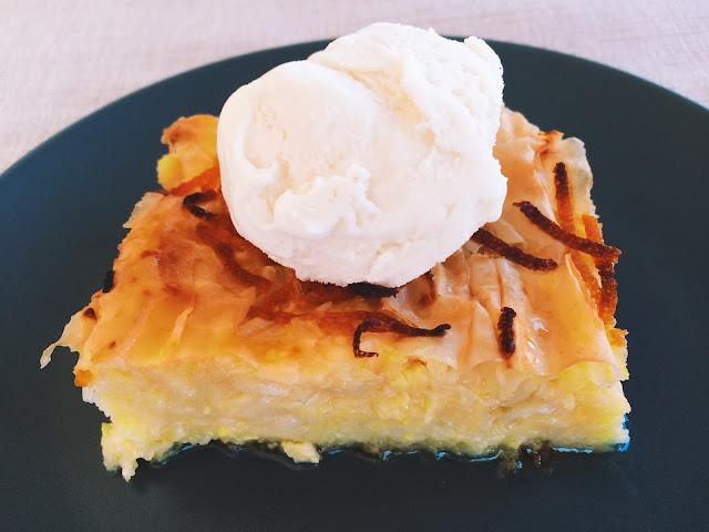 Ioanna's Notebook - Greek Orange Syrup Pie