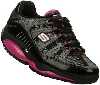 Skechers Black Shape Ups Tennis Shoes