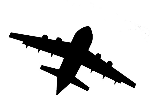 silhouette of an aircraft