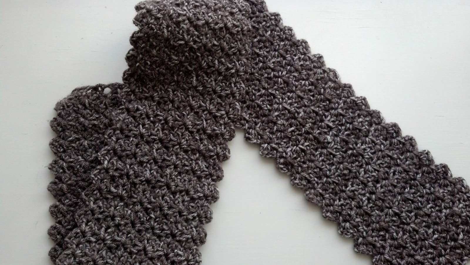 One Skein Scarf (Crochet) Knit A Bit Crochet Away
