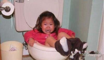 falling in toilet