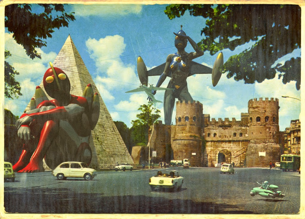 03-Franco-Brambilla-Invading-the-Vintage-Sci-Fi-Postcards-www-designstack-co