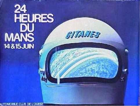 Affiche officielle des 24 Heures du Mans 1975