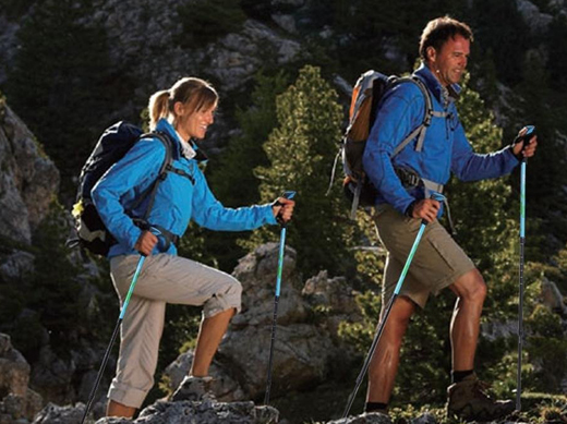 Anti Shock & Retractable Hiking Poles #Hikingpoles