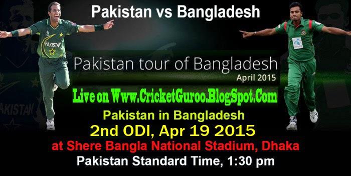Pak vs Ban, Live Streaming 2nd ODI