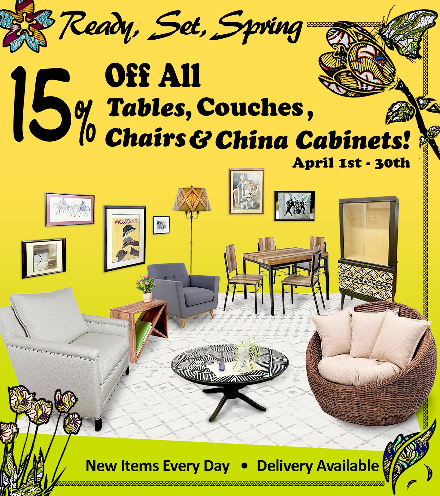 Ready, Set, Spring Sale--Now Sofas are 15% Off Too!