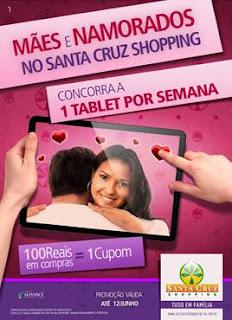 Santa Cruz Shopping sorteia 01 iPad por semana no Dia dos Namorados