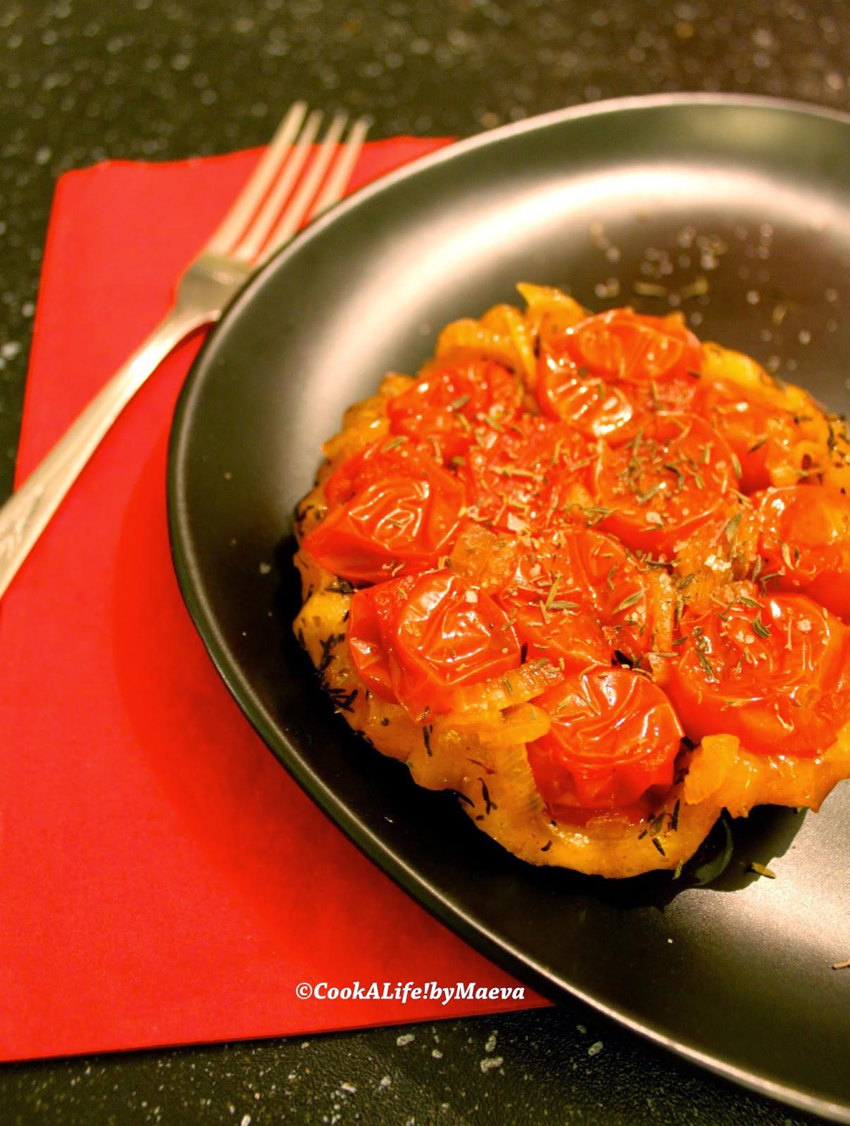 Cook a life by maeva petites tatins de tomates cerises - Accompagnement salade verte ...