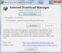 Free serial number IDM