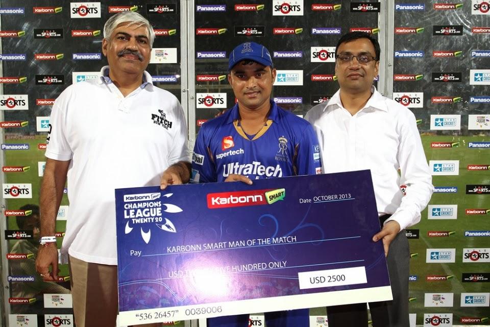Pravin-Tambe-Man-of-the-Match-Rajasthan-Royals-vs-Chennai-Super-Kings-SF 1-CLT20-2013