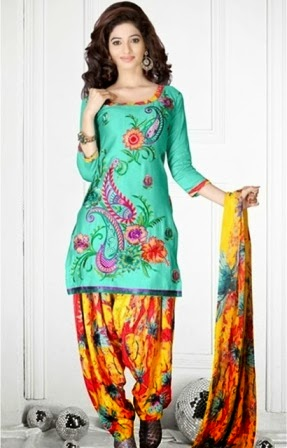 Colorful Patiala Suits