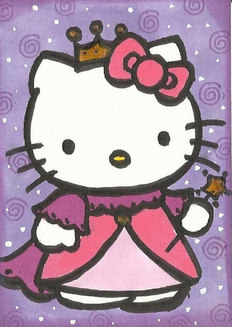 My new passion artist trading cards atc hello kitty - Princesse kitty ...