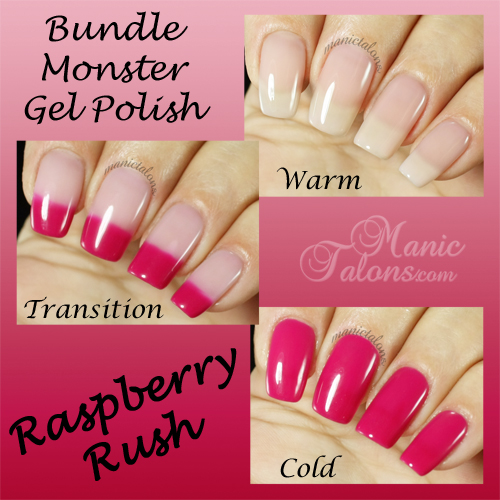 BMC Gel Polish Raspberry Rush Swatch