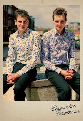 The Brownlee brothers dressed in 1 like no other shirts for Olympic dream
