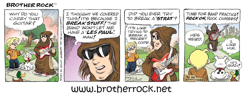 NEW! BROTHER ROCK COMIC STRIP