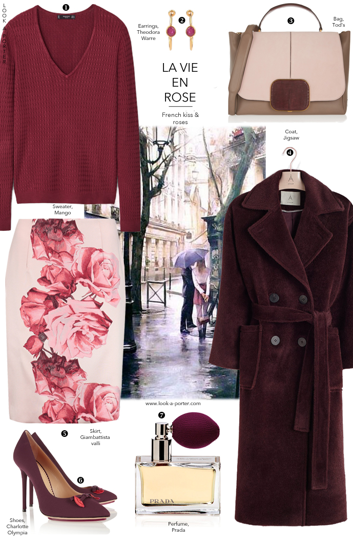 Marsala & rose outfit idea for autumn via www.look-a-porter.com style & fashion blog, outfit inspiration daily