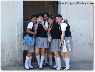 Young School Girls