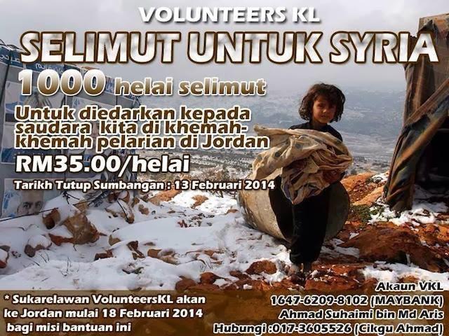 kempen derma selimut untuk syria