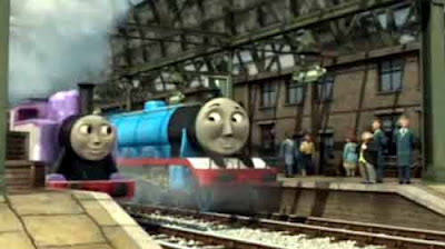 Sodor railway the Fat Controller Knapford station Gordon the big fast express pink Rosie the train