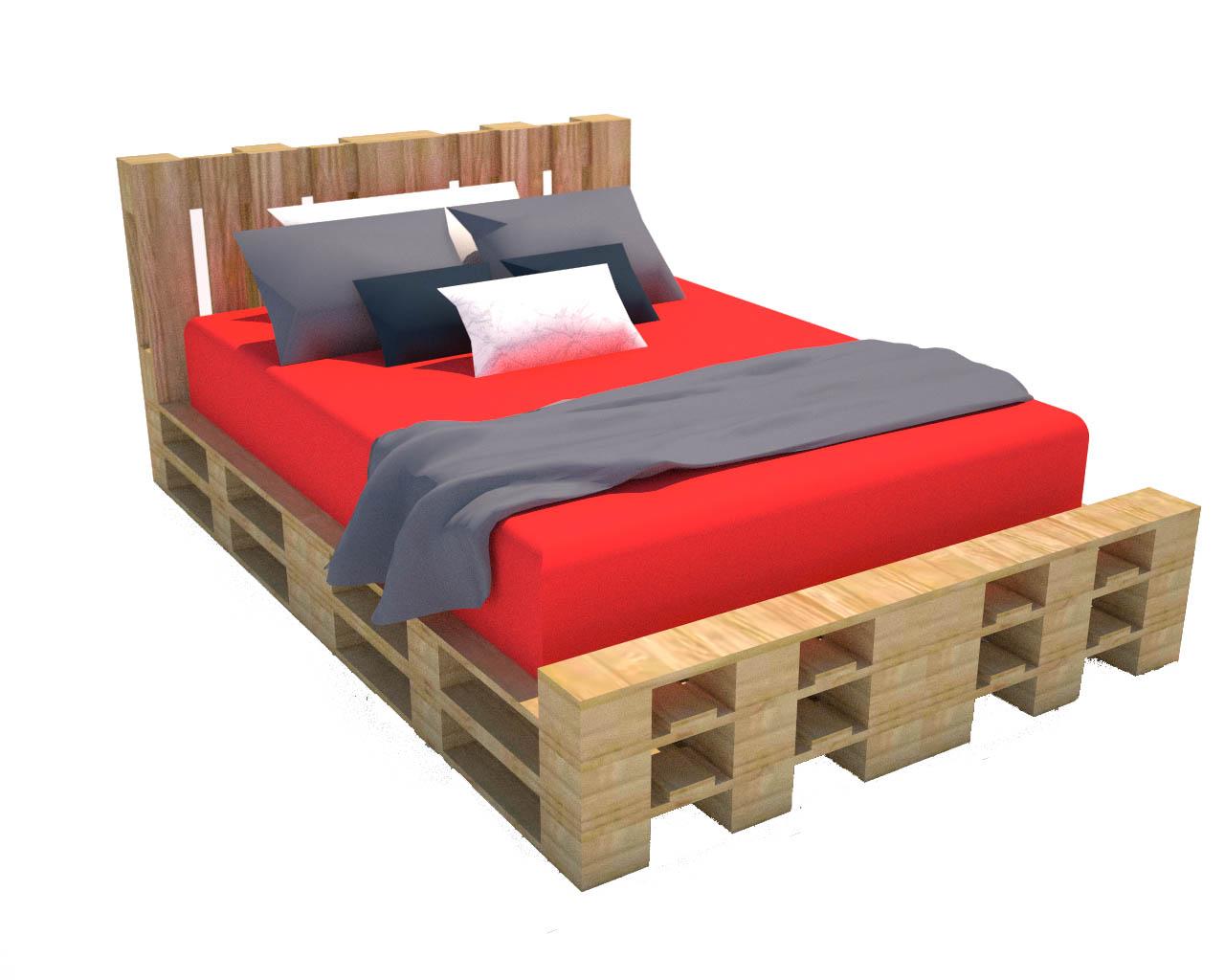 Progettare con i pallet come costruire un letto riciclando pallet - Come costruire un letto contenitore ...