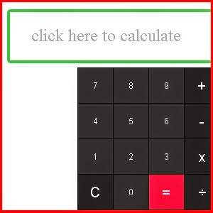 Calculator for Weebly site