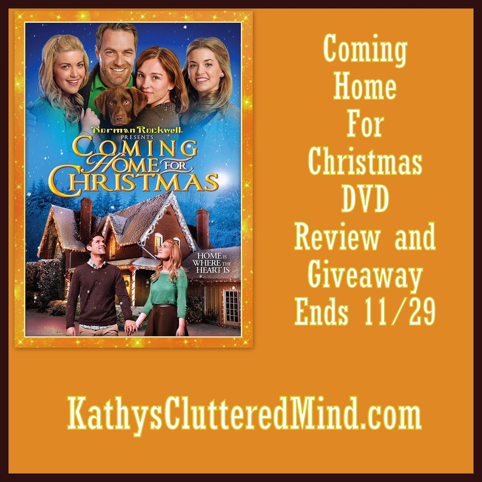 Kathys Cluttered Mind: Coming Home For Christmas DVD Review and Giveaway