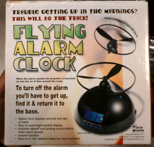 Flying Alarm Clock Unique Collection - My Morning Will Never Be The Same