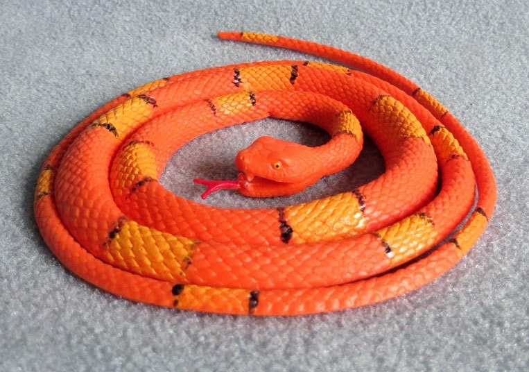 Toy Plastic Orange and Yellow Snake