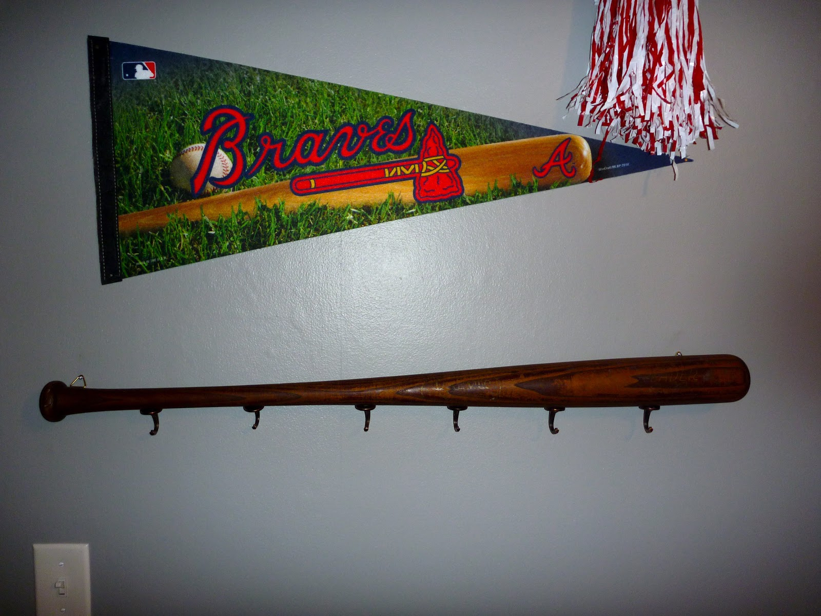 do it myself crafts baseball bat coat rack