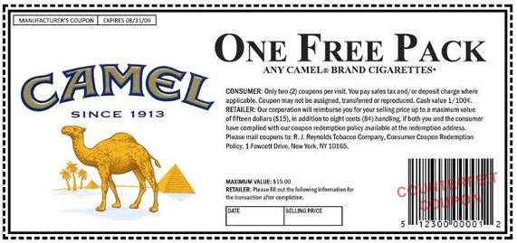 Ordering cigarettes Camel online in Florida