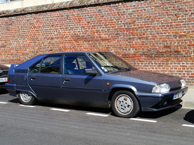 A slightly tattier Citroen BX in native France, it does sport the same alloys and body kit as our Aussie one though