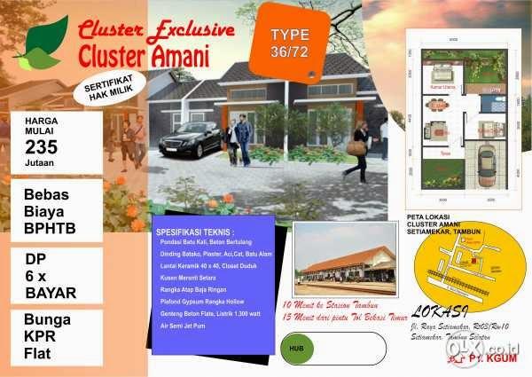 Cluster Taman Amani 2 Residence Tambun Selatan Bekasi