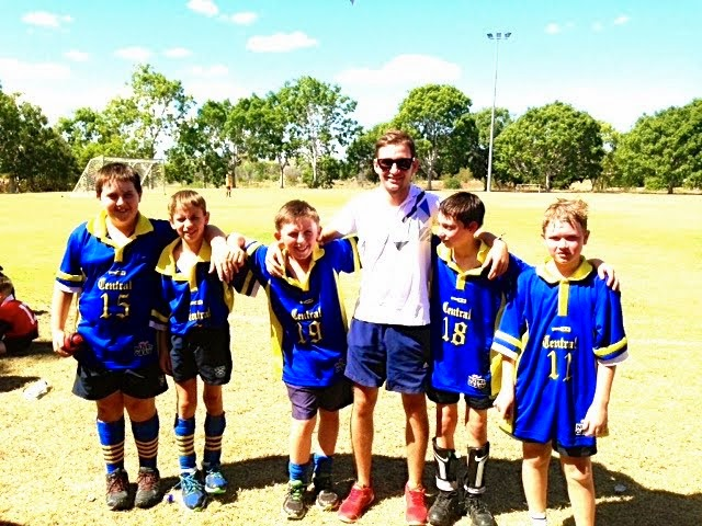 Junior Boys at Charters Towers Soccer Trials