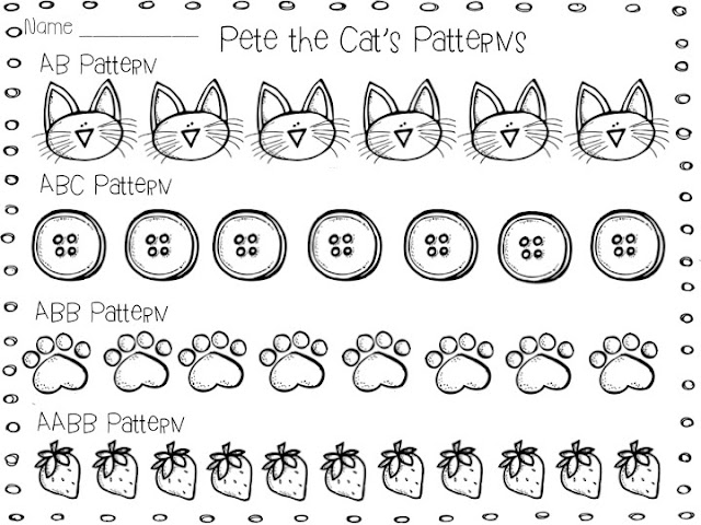 The Groovy Teacher Pete the Cat Patterns and a Math Freebie – Pete the Cat Worksheets