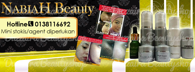 Tempahan Design Facebook Cover Photo: Nabiah Beauty Halal Skincare