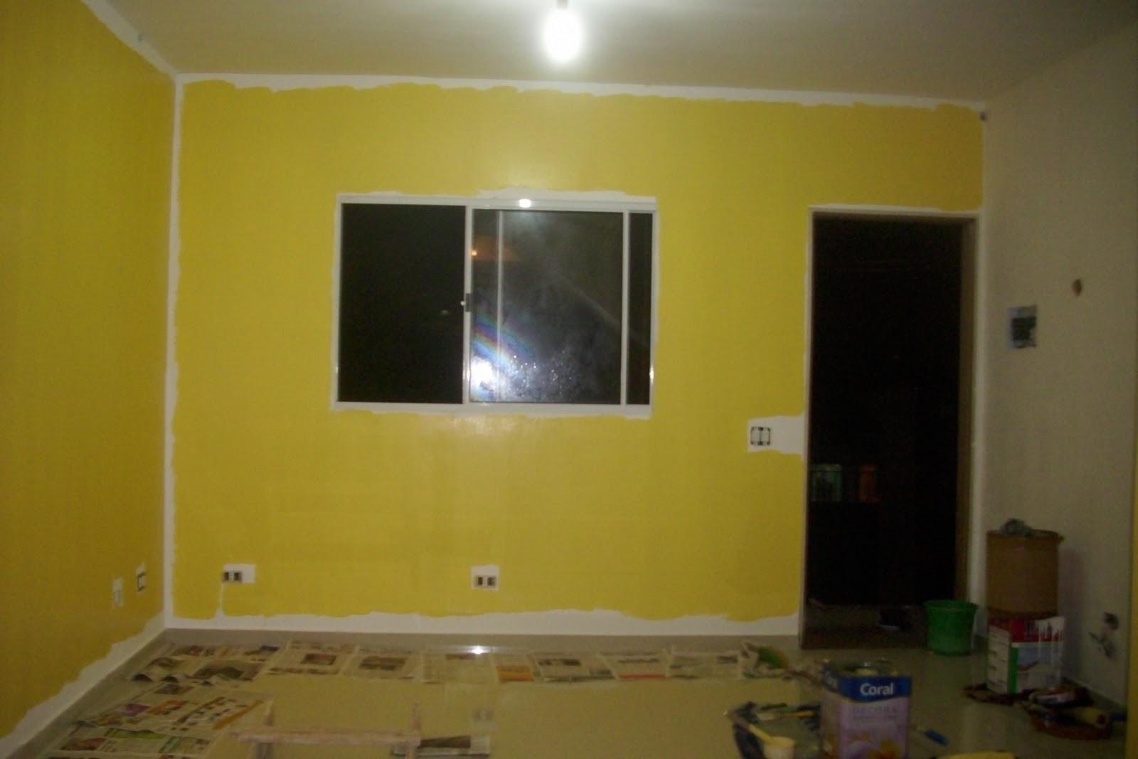 Tinta Amarela Para Parede Book De Inspiraes Tinta Amarela Amarelo  -> Cor De Parede Para Sala Amarelo