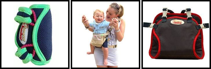 Snazzy Baby Kneepads and Deluxe Combo Carrier - Click to see the Combo Carrier in our store