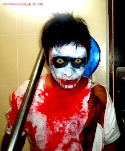 wajah zombi ku...hahaha..