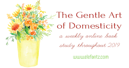 2019 Book study - the gentle art of domesticity. Every Tuesday on the blog!