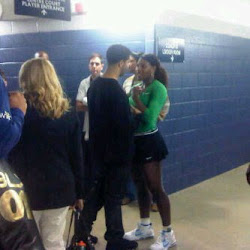 JUST FRIENDS: Drake and Serena Williams might have rekindled their relationship