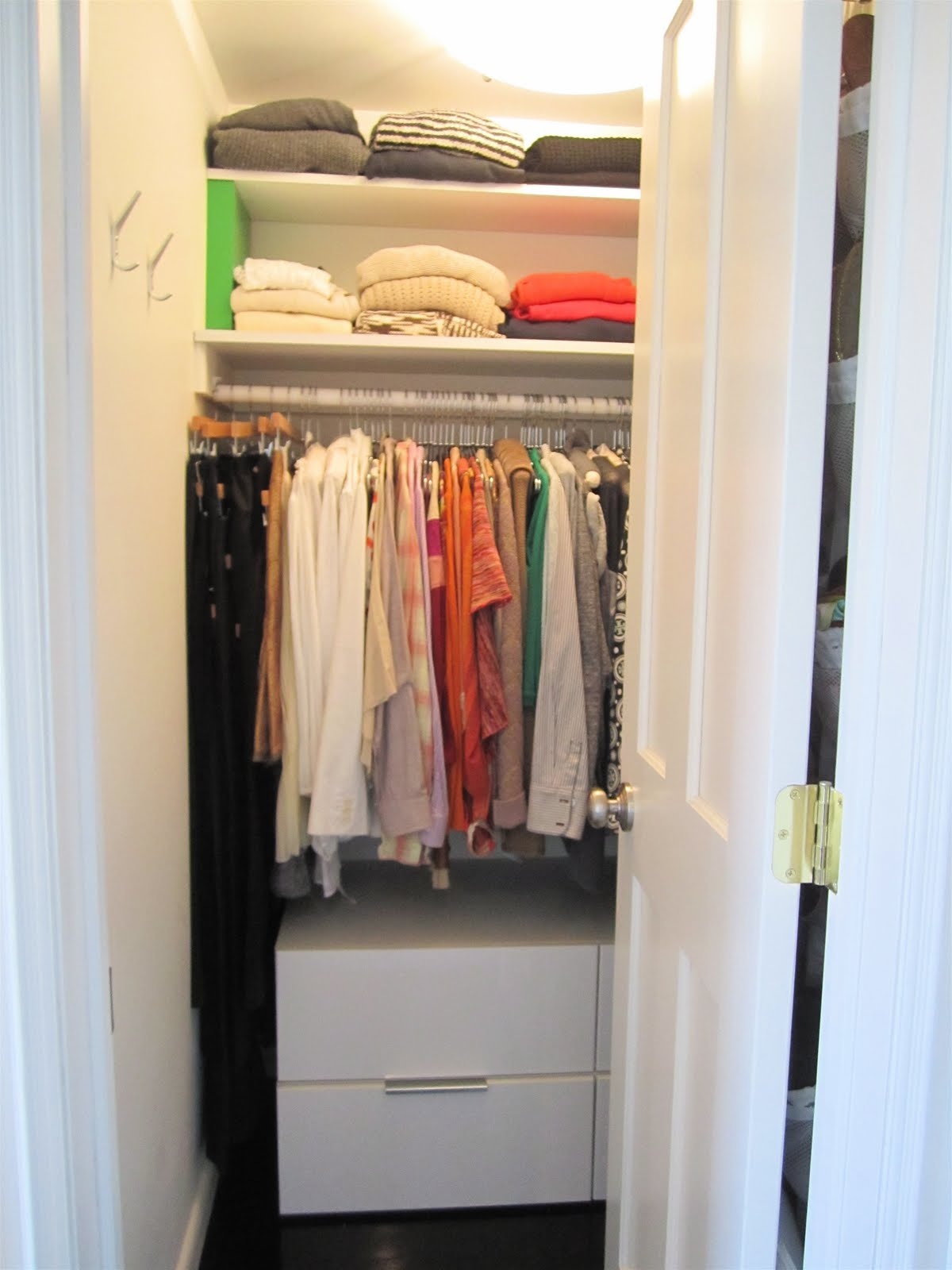 Small Walk In Closet Before Just About After