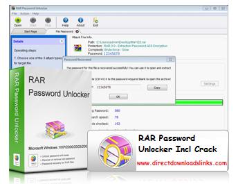RAR Password Unlocker v5.0.0.0 Final Incl Crack