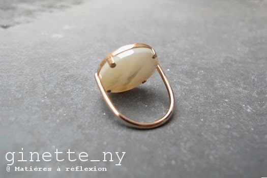 Bague en or rose Ginette NY