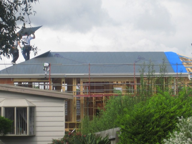 Carter Grange Building Our Home Roof Started Looks Great